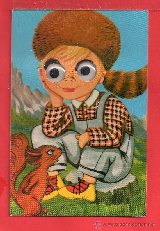- 8677 BONITA POSTAL NIÑO Y ARDILLA MUEVE LOS OJOS ESCRITA EDICIÓN ROTAL FOTO MILANO VER FOTO ADICI (Postales - Dibujos y Caricaturas)