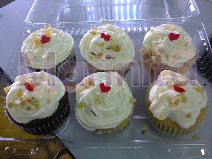 Cupcakes con crema y nueces!!!