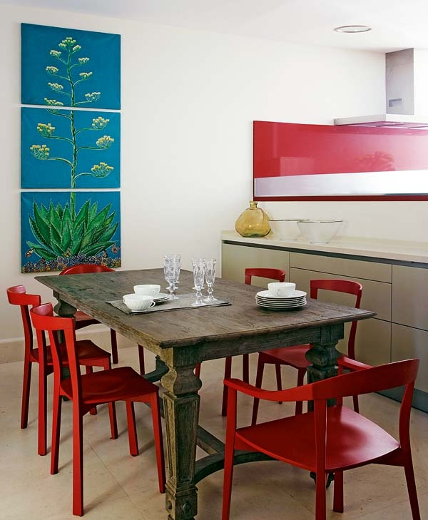 Dining room decorating ideas red chairs green table 93 best Apartment images on Pinterest   Red  Red chairs and  . Red Dining Chairs And Table. Home Design Ideas