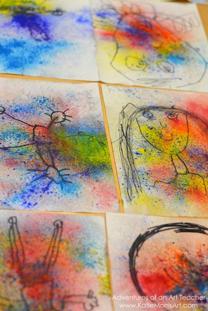 Adventures of an Art Teacher: Kindergarten Holi Portraits