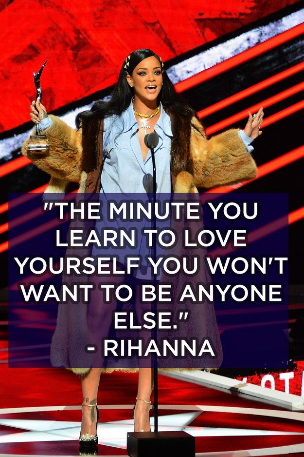 This word from Rihanna about confidence being key. | 12 Affirmations From Black Girls Rock! That You Need In Your Life