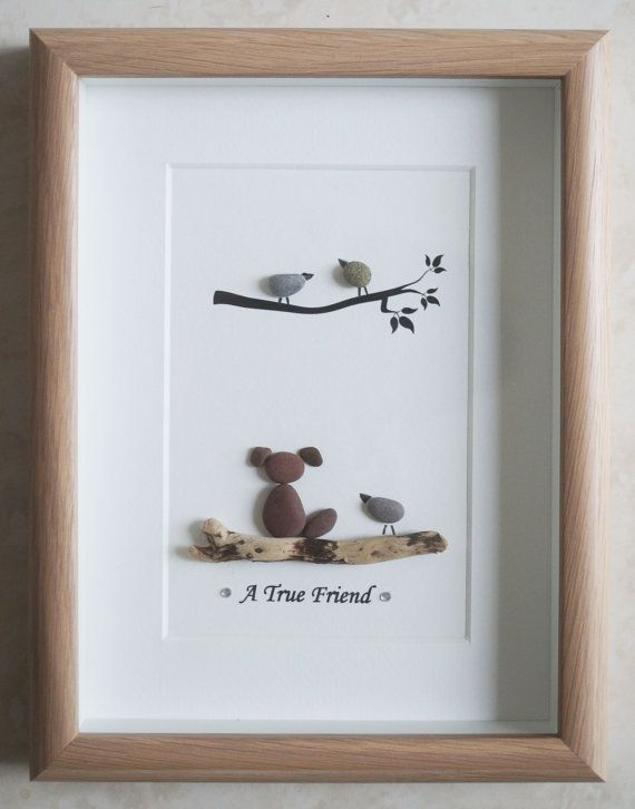 Pebble Art framed Picture- A true Friend