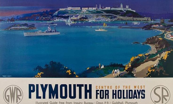 A rail bargain from a bygone era: Historic posters depicting the delights of British beach breaks go under the hammer JUL16