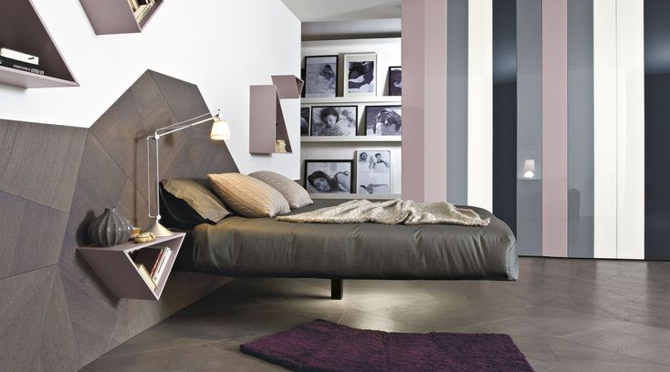 A suspended bed for your dreams | Discover it on http://www.malfattistore.it/product/fluttua/ | #malfattistore #lagodesign #bed #bedroom #homedesign #modernfurniture