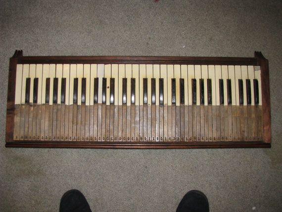 Repurposed Antique Pump Organ Keyboard  Wall by JanetJohnCreations, $125.00