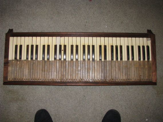 Repurposed Antique Pump Organ Keyboard  Wall by JanetJohnCreations, $125.00