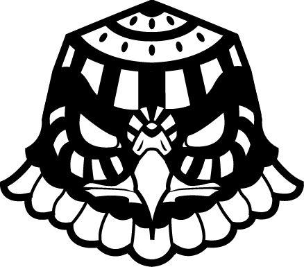 T-Shirt - Black and White Eagle Design