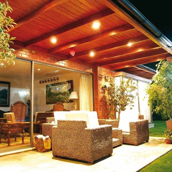 222 best images about casa on pinterest ceiling lamps - Luces para terraza ...