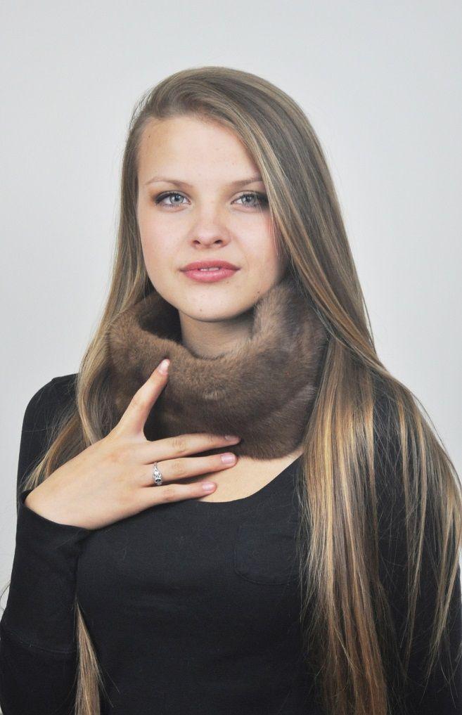Scaldacollo pelliccia in visone scandinavo naturale  www.amifur.com