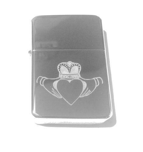 Vector KGM Thunderbird Custom Lighter  Irish Claddagh Ring Open Heart Love Logo Silver High Polish Chrome Rare * Click image for more details.
