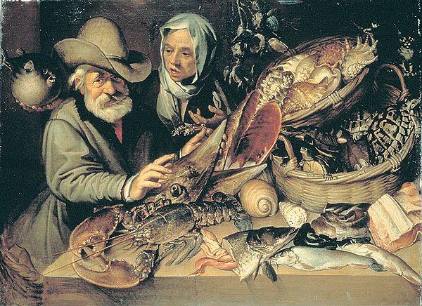 """Cuisine Tudor :  Des lois indiquaient à la population les jours où elle devait manger du poisson à la place de la viande (pour des raisons religieuses mais aussi pour soutenir l' """"industrie"""" de la pêche).  Dans les zones côtières, les gens mangeaient du hareng, du maquereau et de la morue. Les Anglais vivant près d'une rivière pouvaient se nourrir de poisson frais comme l'anguille, le brochet, la perche, la truite, l'esturgeon, le gardon et le saumon."""