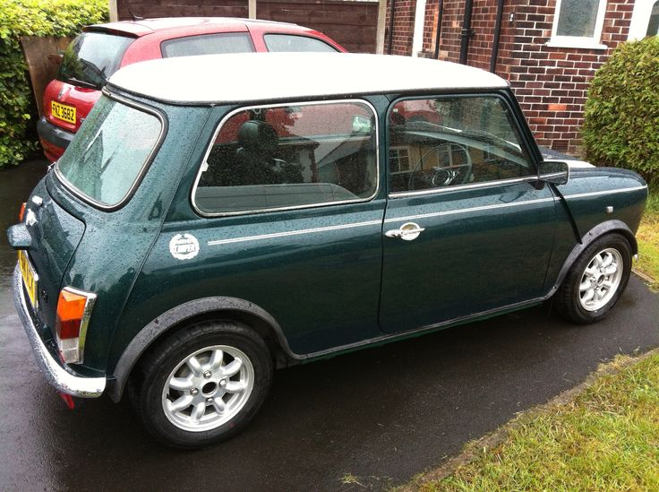 british racing green mini cooper - just like the one i had...want it back...