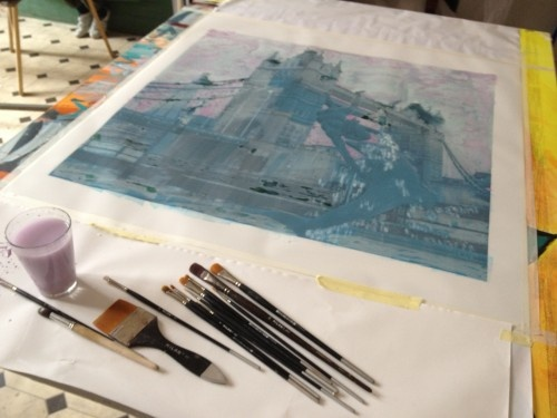 Photo painting - diluting colors on the back