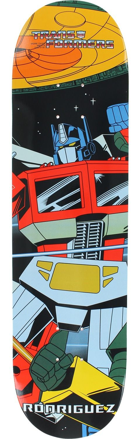 Primitive Skateboarding Paul Rodriguez Transformers Deck