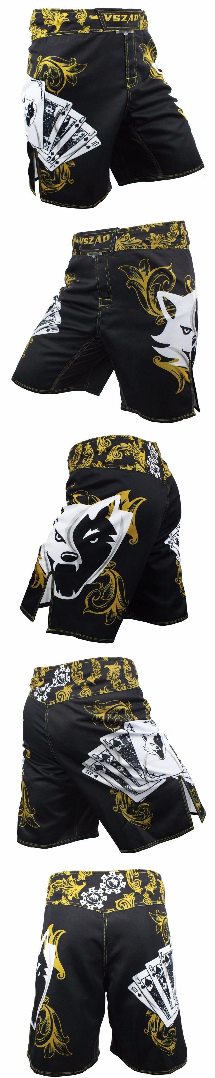 MMA  Shorts Cage Fighting Grappling   Muay Thai Kickboxing Short poker pattern VSZAP