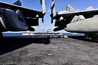 171112-N-SK327-3089 WESTERN PACIFIC (Nov. 12, 2017) The aircraft carrier USS Ronald Reagan (CVN 76) is visable from the flight deck of the USS Nimitz (CVN 68) during a transit the Western Pacific. The USS Ronald Raegan (CVN 76), USS Theodore Roosevelt (CVN 71) and USS Nimitz (CVN 68) Carrier Strike Groups are underway and conducting operations in international waters as part of a three-carrier strike force exercise. The U.S. Navy has patrolled the Indo-Asia Pacific region routinely for more…