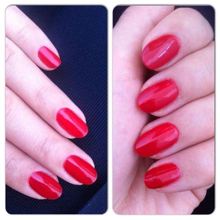 Red, oval