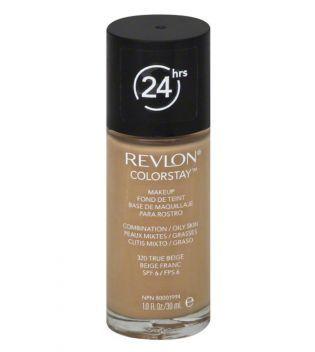 Revlon - Base de Maquillaje fluida ColorStay para piel Mixta/Grasa - 320: True Beige