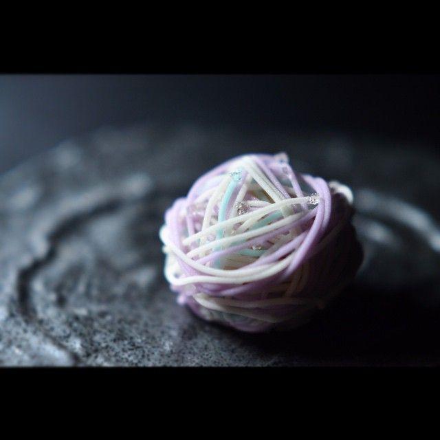 """一日一菓 「七変化」 wagashi of the day """"Hydrangea"""" 本日は、「七変化」紫陽花の別称です。 煉切製です。 小田巻という道具を用いたお菓子です。 錦玉で朝露を表現しています。 ※一日一菓にて御紹介している御菓子は、基本的に和菓子司いづみやにて通常店頭販売しておりません。御用命の際は特注品として承りますので、詳しくは弊社窓口までお問い合わせ下さい。 #和菓子 #和菓子職人 #職人 #菓子 #あじさい #紫陽花 #Hydrangea #wagashi #あん #伝統 #japan #sweet #cake #artist #candy #art #技法 # #"""