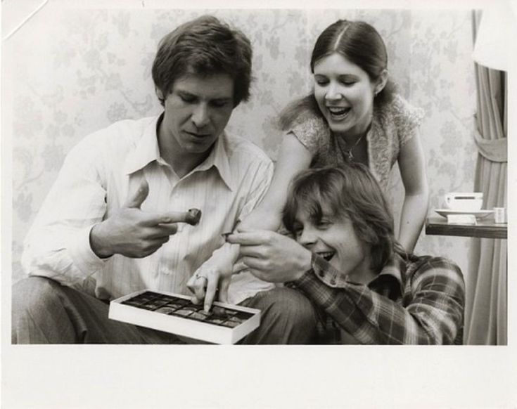 Harrison Ford, Carrie Fisher et Marc Hamill