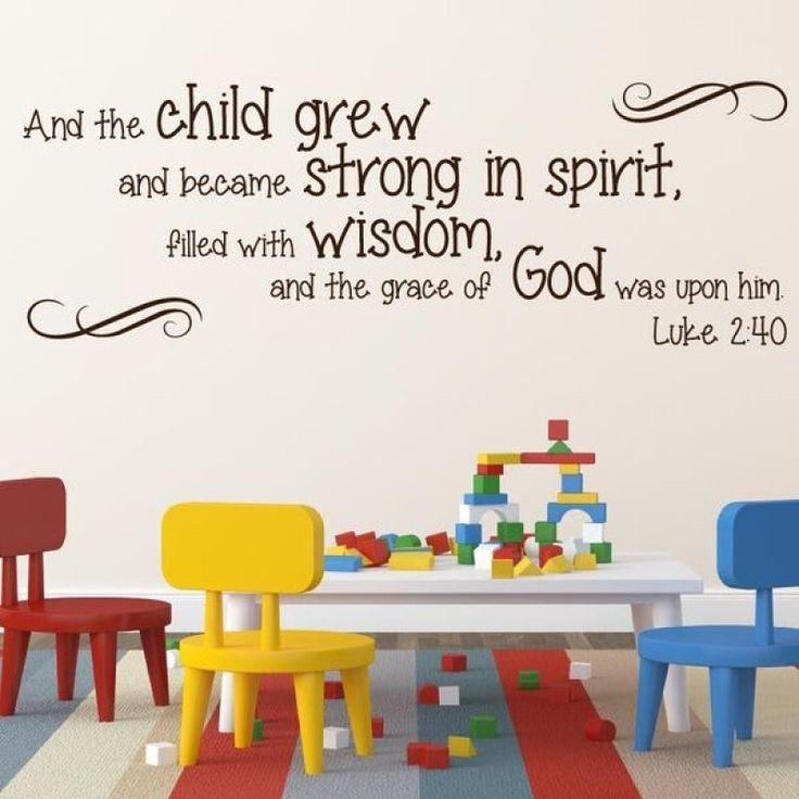 Luke 2:40 religious wall decor   Divine Walls
