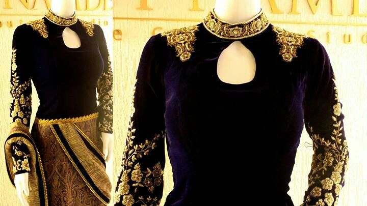 Beautiful Royal Blue and Gold #Desi #Couture Outfit