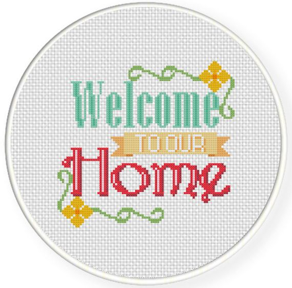 FREE Welcome to our Home Cross Stitch Pattern