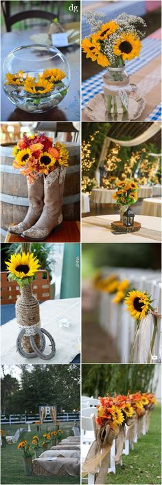 137 best sunflower wedding ideas images on pinterest sunflowers 23 bright sunflower wedding decoration ideas for your rustic wedding junglespirit Images