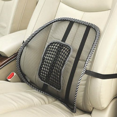 details about mesh lumbar back brace support massage pillow cushion for car office seat chair. Black Bedroom Furniture Sets. Home Design Ideas