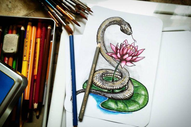 32 отметок «Нравится», 4 комментариев — ArtBlog  | Мехенди | SPb (@injurka) в Instagram: «Не будет сегодня Мехенди. Сегодня смотрите на змея с лотосом. . А вы любите змей? Я в своё время…»