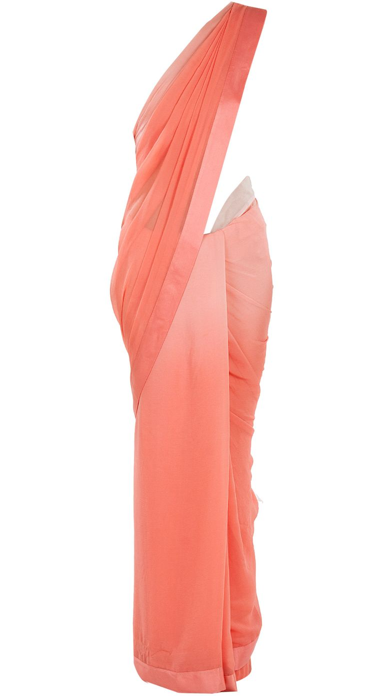 Peach ombre sari available only at Pernia's Pop-Up Shop.