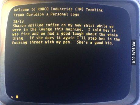 I laughed pretty hard. (Fallout 4)