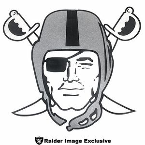 Oakland Raiders Pirate Logo Pennant - Click to enlarge