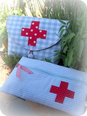 first aid kits for the purse or diaper bag.  gifts