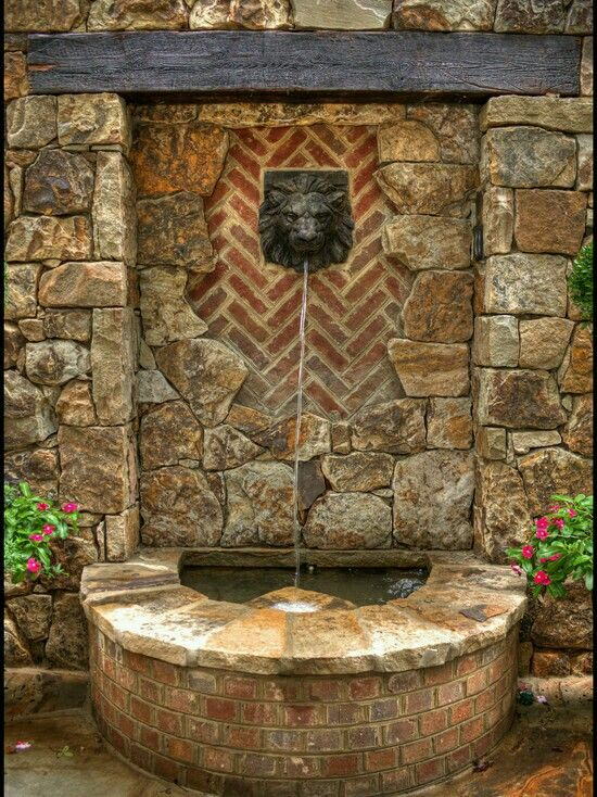 17 best images about water features on pinterest wall for Outdoor wall fountains