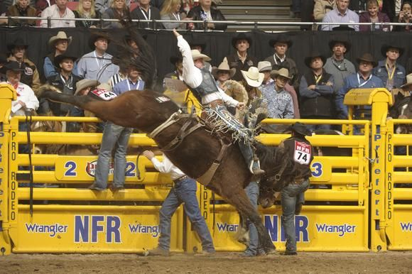 ❦  Dec. 8, 2013 - Saddle Bronc Rider Jake Wright competes in Round 4 of the 2013 Wrangler National Finals Rodeo. Photo courtesy of PRCA, photo credit Mike  Copeman. C2C Travels LOVES this and our Utah Cowboys! See y'all again next year!
