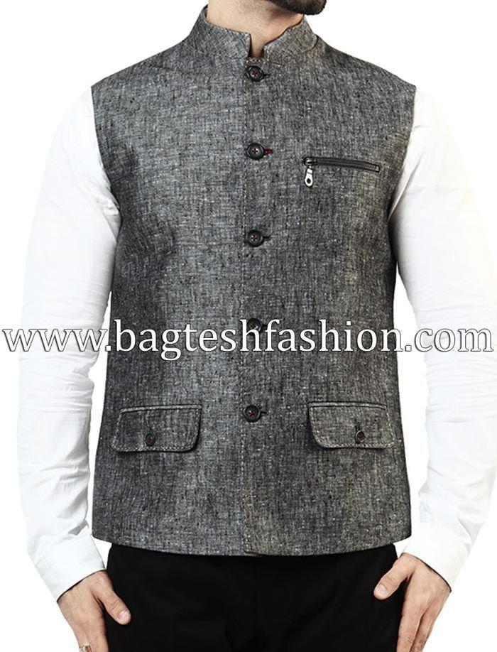Mens Linen Sleeveless Nehru Jacket http://www.bagteshfashion.com/men/nehru-jacket
