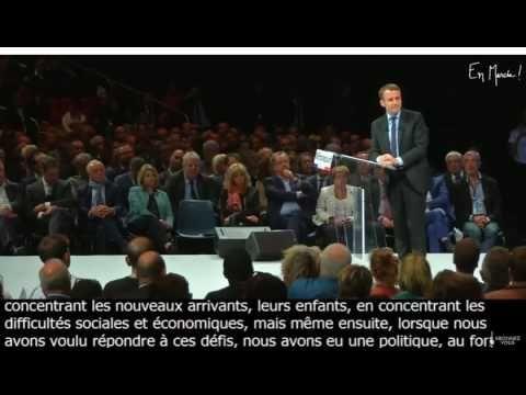 """https://www.facebook.com/enmarchemag/ Emmanuel Macron - Montpellier mardi 18 octobre-Laïcité: """"Aucune religion n'est un problème"""""""