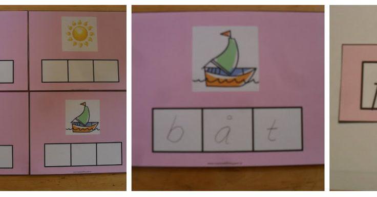 Min blogg om allt mellan himmel och jord: Montessorimaterial: skriva ljudenliga ord med 3 bokstäver