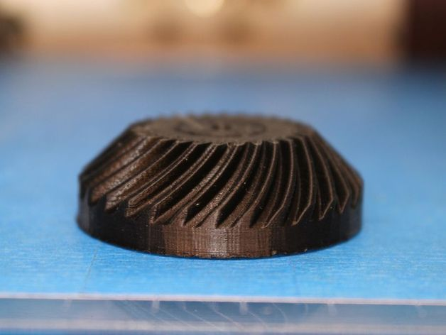 Spiral bevel gear by GeneralRulofDumb - Thingiverse