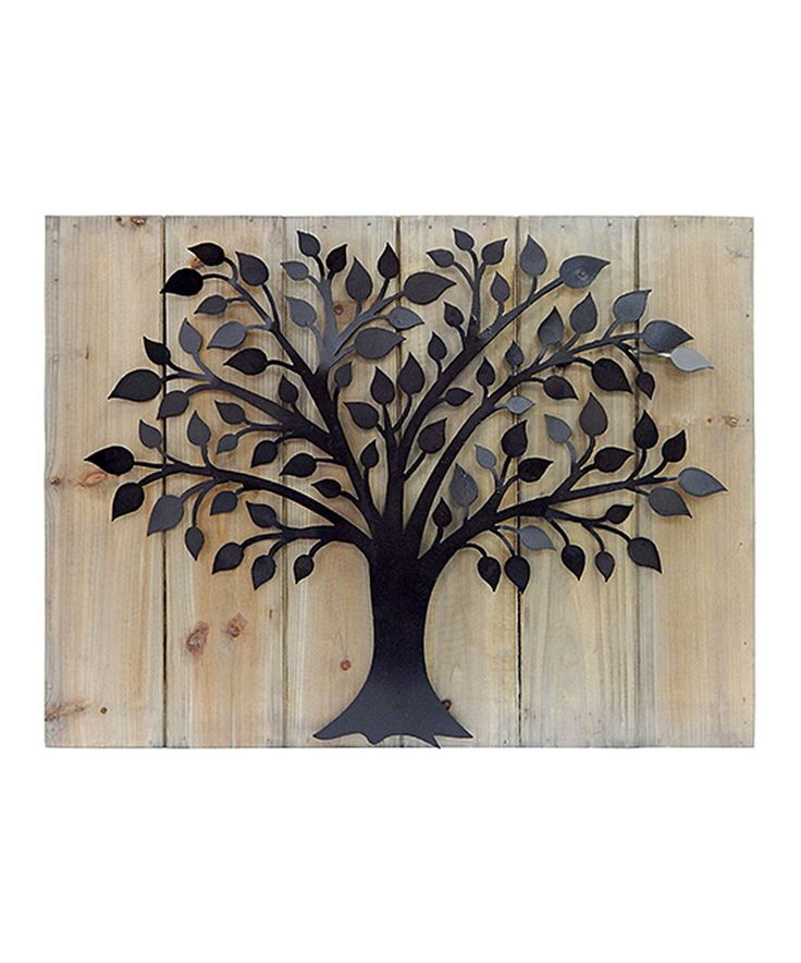 Another great find on #zulily! Wood & Metal Tree Wall Art by MCS Industries #zulilyfinds