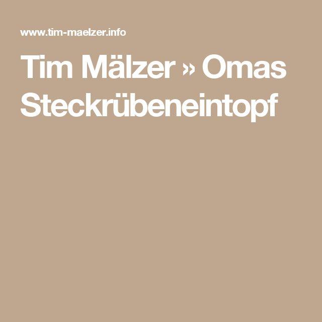 Tim Mälzer » Omas Steckrübeneintopf