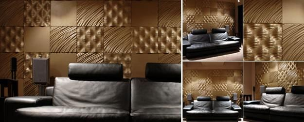 decorative wall panels adding chic carved wood patterns to modern