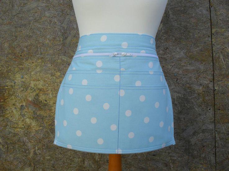 6 pocket Light Blue spotty Vendor money apron. Craft apron. Gardening apron. Cafe apron. Server Apron. Teacher apron. Item No. LDC0700 by LDCcreations on Etsy