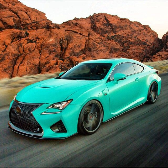 ◆ Visit MACHINE Shop Café ◆ (Teal LEXUS RC-F Supercar) ...I could consider this color.