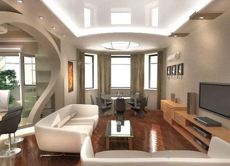 Image result for дизайн натяжных потолков в гостинной