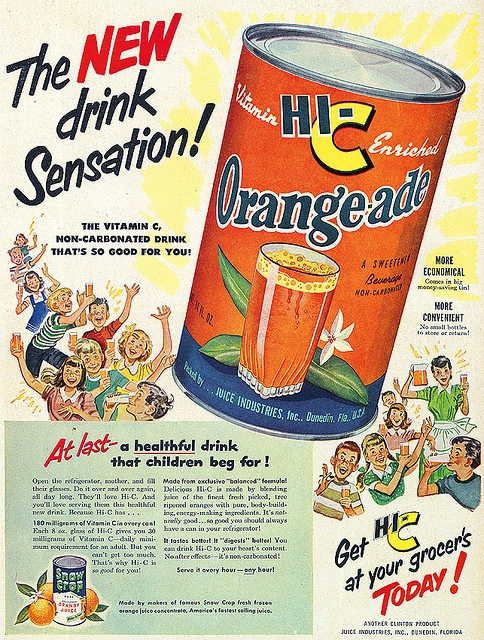 It's the new drink sensation! WOW this is what I grew up on  - little did my Mom know that it was only 10% real fruit juice and 90% sugar water!  I much rather have fresh squeezed (which I do myself now when I can)