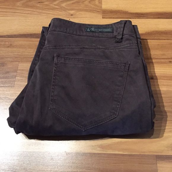 Brown skinny jeans Super soft material -- brand new never worn! Wit & Wisdom Pants Skinny