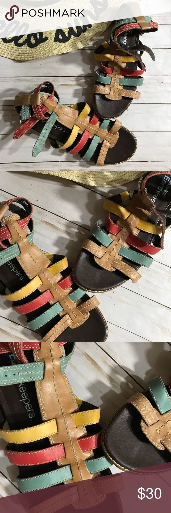 Timberland Earthkeepers Sandals Shoes - 8 Timberland Earthkeeper shoes sandals in great condition.  Very minimal wear.  Feature colorful leather straps and double ankle straps.  Super clean inside! Timberland Shoes Sandals