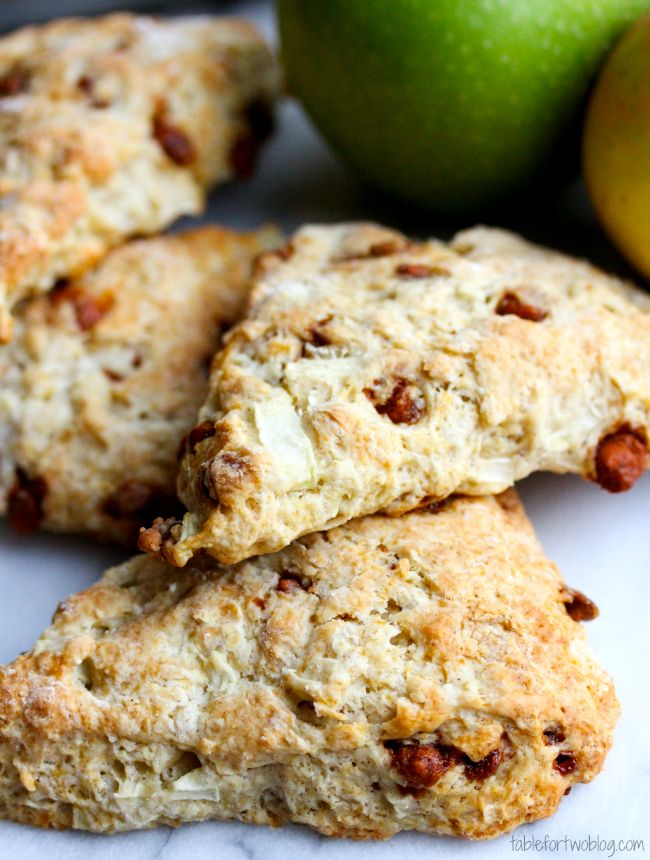 Apple Cinnamon Scones » Table for Two
